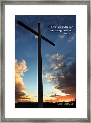Isaiah 53-5 Framed Print by James Eddy