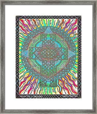 Framed Print featuring the painting Isaiah Bible Code by Hidden Mountain