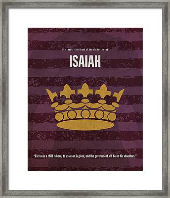 Isaiah Books Of The Bible Series Old Testament Minimal Poster Art Number 23 Framed Print