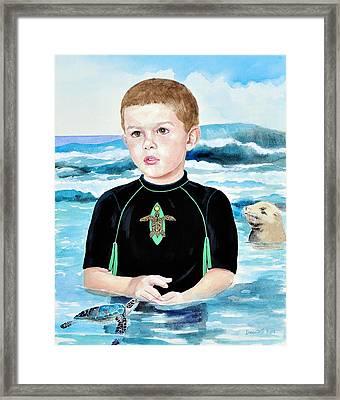 Isaiah Son Of Neptune Framed Print