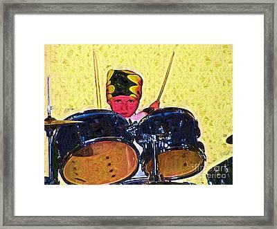 Isaiah The Drummer Framed Print by Deborah MacQuarrie-Selib