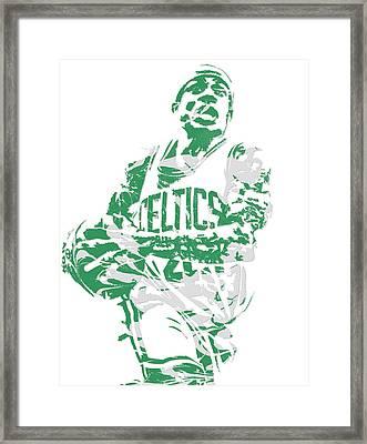 Isaiah Thomas Boston Celtics Pixel Art 15 Framed Print