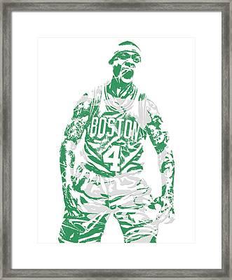 Isaiah Thomas Boston Celtics Pixel Art 16 Framed Print