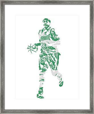 Isaiah Thomas Boston Celtics Pixel Art 17 Framed Print