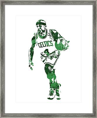 Isaiah Thomas Boston Celtics Pixel Art 4 Framed Print