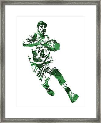 Isaiah Thomas Boston Celtics Pixel Art 5 Framed Print