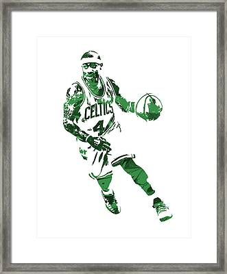 Isaiah Thomas Boston Celtics Pixel Art 6 Framed Print