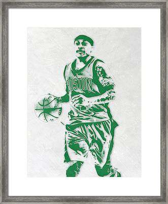 Isaiah Thomas Boston Celtics Pixel Art Framed Print