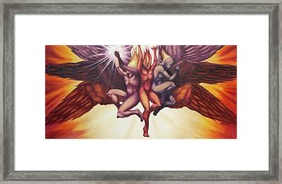 Isaiah's Seraphim Framed Print by Ida Kendall