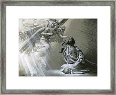 Isaiah's Vision Framed Print by Frank Marsden Lea