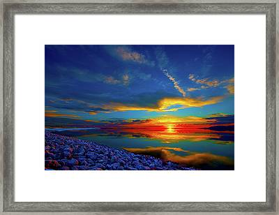 Framed Print featuring the photograph Isand Sunset by Norman Hall