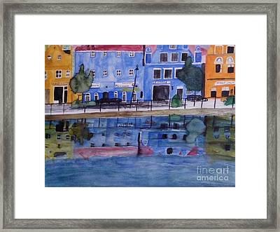 Isar Promenade Landshut Framed Print