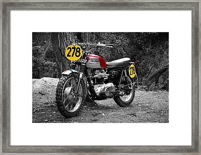 Isdt Triumph Steve Mcqueen Framed Print by Mark Rogan