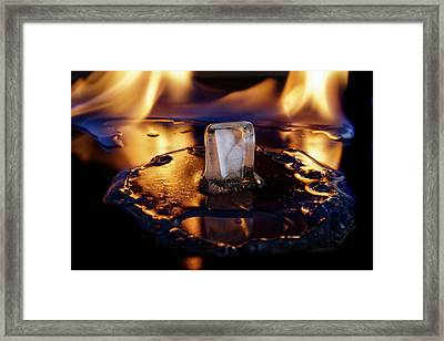 Framed Print featuring the photograph Isengard Abstract by Rico Besserdich