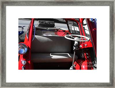 Isetta By The  Front Door  Framed Print by Steven Digman