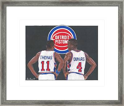 Isiah Thomas And Joe Dumars Framed Print