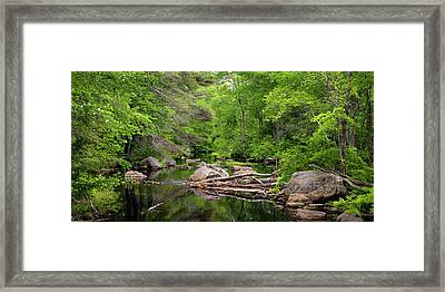 Isinglass River, Barrington, Nh Framed Print