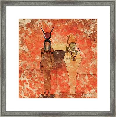 Isis And Osiris By Raphael Terra And Mary Bassett Framed Print