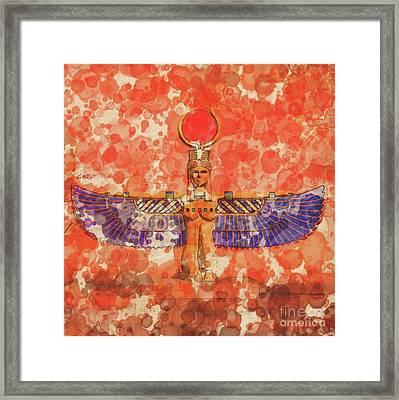 Isis, Mother Goddess Of Egypt By Raphael Terra And Mary Bassett Framed Print