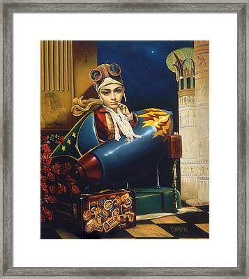 Isis Rising Framed Print by Vic Lee