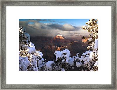 Isis Temple Sunset Framed Print by Mike Buchheit