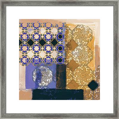 Islamic Motif II 441 4 Framed Print by Mawra Tahreem