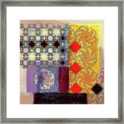 Islamic Motif II 441 1 Framed Print by Mawra Tahreem