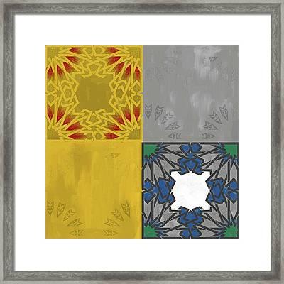 Islamic Motif Iv 443 1 Framed Print by Mawra Tahreem