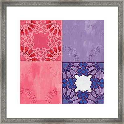 Islamic Motif Iv Framed Print by Mawra Tahreem