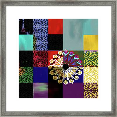 Islamic Motif V 444 1 Framed Print by Mawra Tahreem