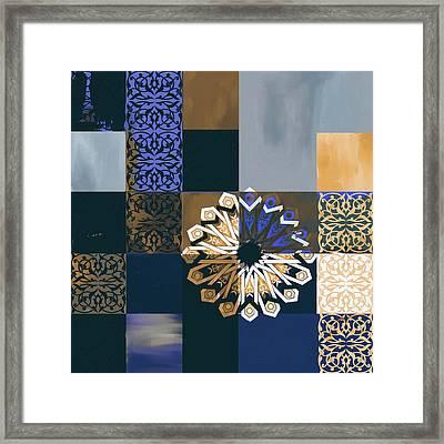 Islamic Motif V 444 3 Framed Print by Mawra Tahreem