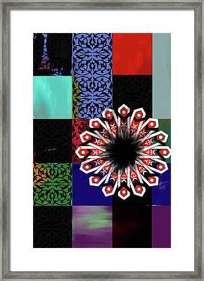 Islamic Motif V 444 4 Framed Print by Mawra Tahreem