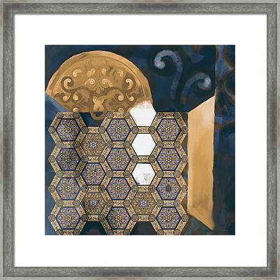 Islamic Motif Vi 445 2 Framed Print by Mawra Tahreem