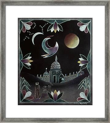 Islamic Night Framed Print by Sally Appleby