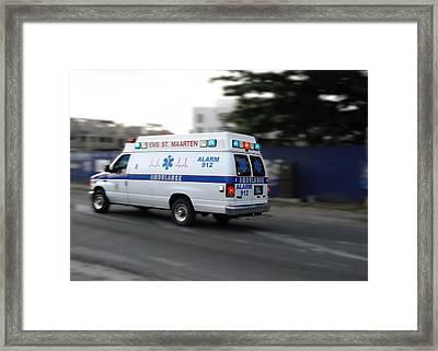 Island Ambulance Framed Print