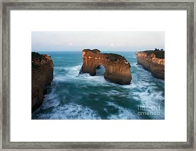 Island Arch And Whirlpools Framed Print by Hideaki Sakurai
