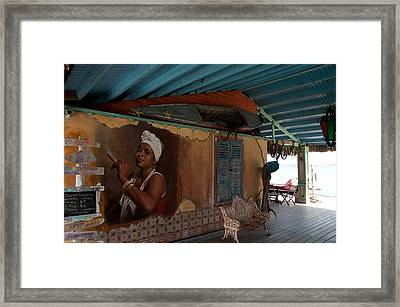 Island Bar And Grill Framed Print by Joe Teceno