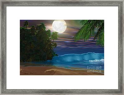 Island Beach Framed Print by Corey Ford
