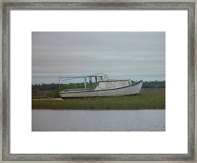 Island Boat Two Framed Print by Debbie May