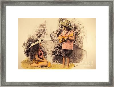 Island Children Framed Print by Himani - Printscapes