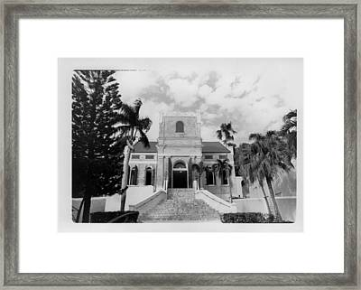 Island Church  Framed Print