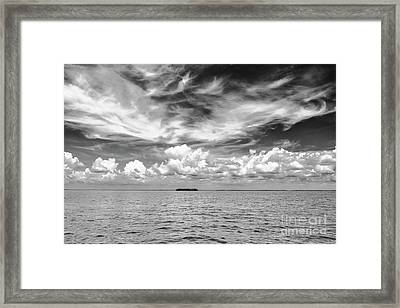 Island, Clouds, Sky, Water Framed Print