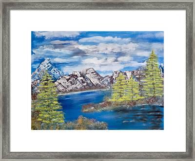 Island Cove Framed Print by Mikki Alhart