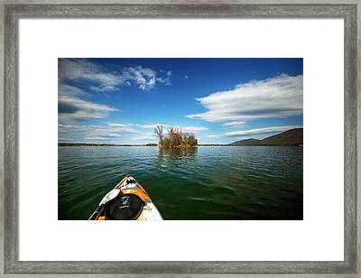 Framed Print featuring the photograph Island Destination by Alan Raasch