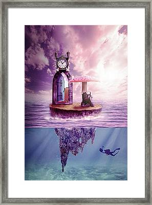 Framed Print featuring the digital art Island Dreaming by Nathan Wright