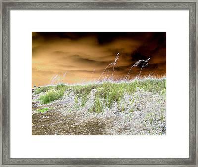 Island Dune Framed Print by Peter  McIntosh