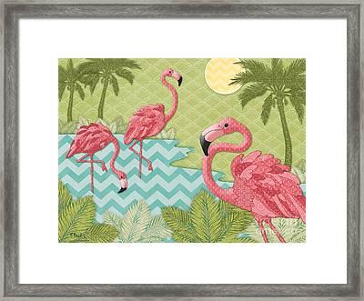 Island Flamingo - Horizontal Framed Print by Paul Brent