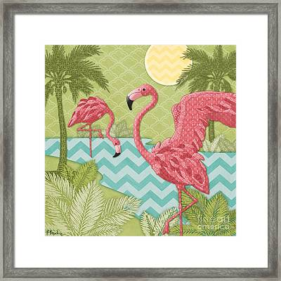 Island Flamingo II Framed Print by Paul Brent
