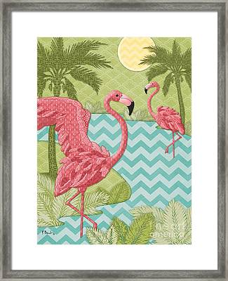 Island Flamingo - Vertical Framed Print