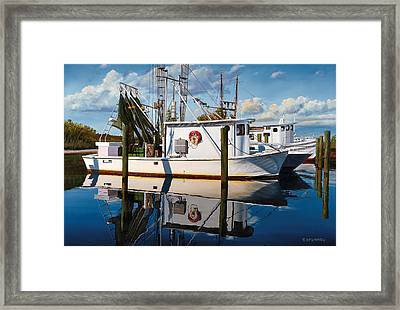 Framed Print featuring the painting Island Girl by Rick McKinney